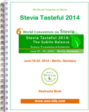 Stevia Tasteful 2014 : The abstracts book is available