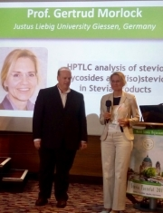 "Prof. Gertrud Morlock was awarded for the first price of ""Father of Stevia Award 2018"