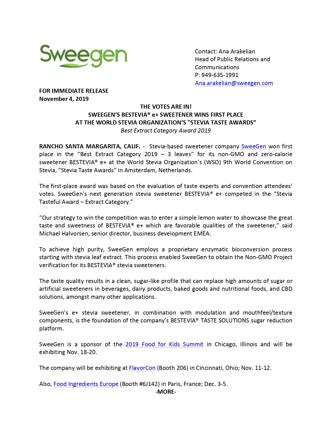 SweeGen - press release WSO award 1 FINAL page-0001